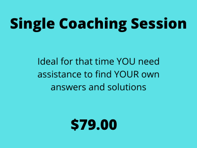 Single Coaching Session Create YOUR Best Life Now
